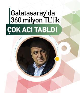 Galatasaray'da tablo çok acı! 360 milyonluk fiyasko...