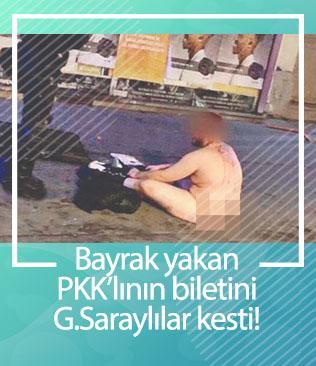 İşte Türk bayrağını yakan PKK'lının sonu