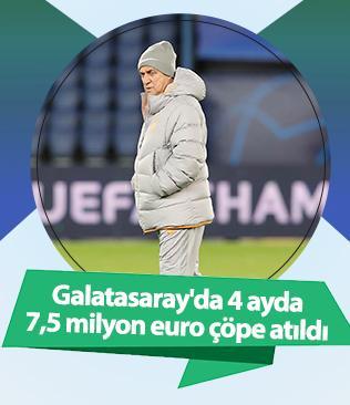 Galatasaray'da 4 ayda 7,5 milyon euro çöpe atıldı