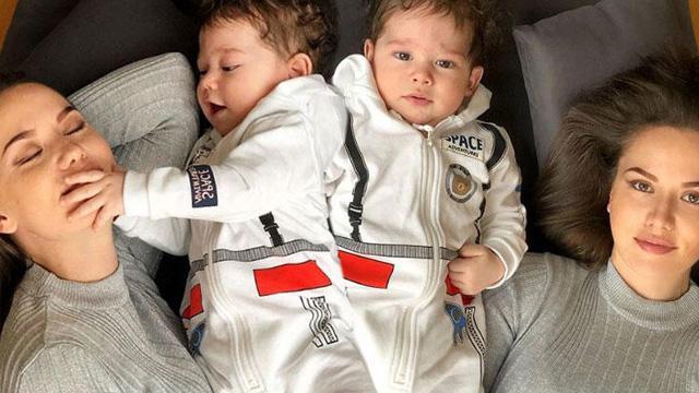 Fahriye Evcan 8 aylık oğlu Karan'ın yüzünü ilk kez gösterdi