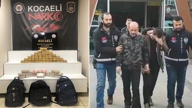 Kocaeli'de 35 kilo 785 gram eroin ele geçirildi!