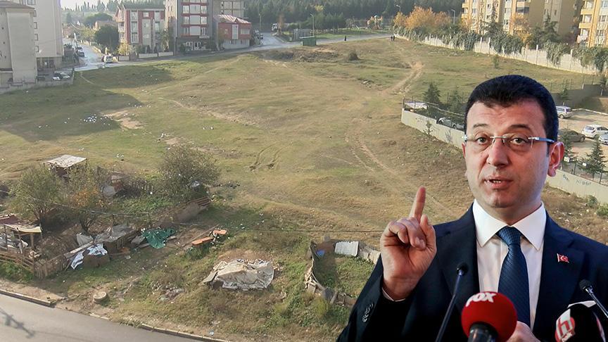 İmamoğlu, halkın boş arazideki park isteğini reddetti