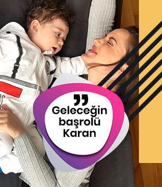 Fahriye Evcen ve Burak Özçivit'in oğulları Karan için herkes aynı şeyi söyledi: Geleceğin başrolü Karan