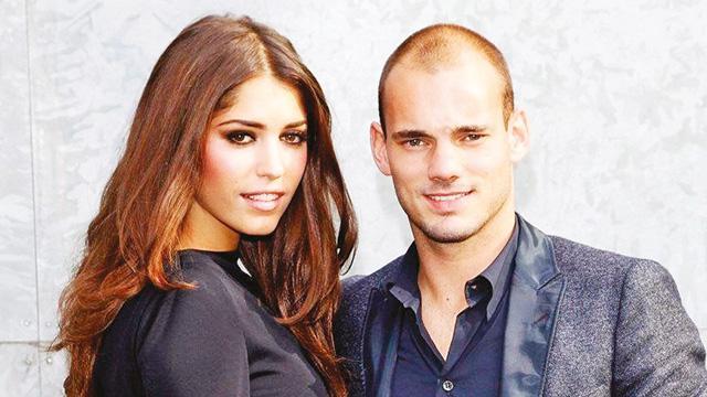Wesley Sneijder ile model eşi Yolanthe Cabau barıştı