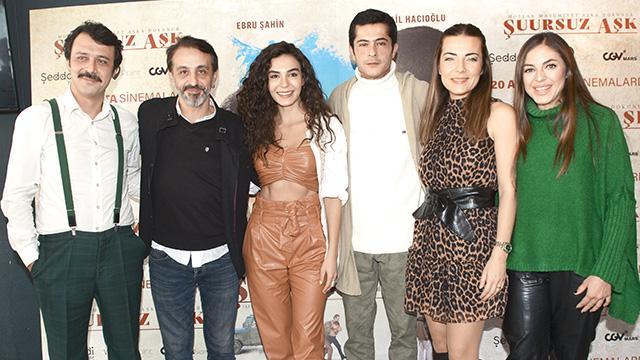 İsmail Hacıoğlu, Ebru Şahin ve Burcu Kara'nın yeni film heyacanı