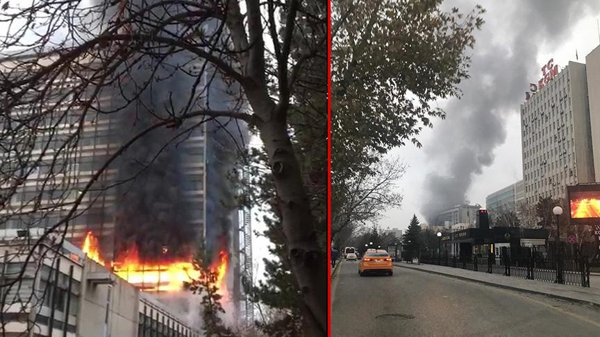 DSİ Genel Müdürlüğü binasında korkutan yangın