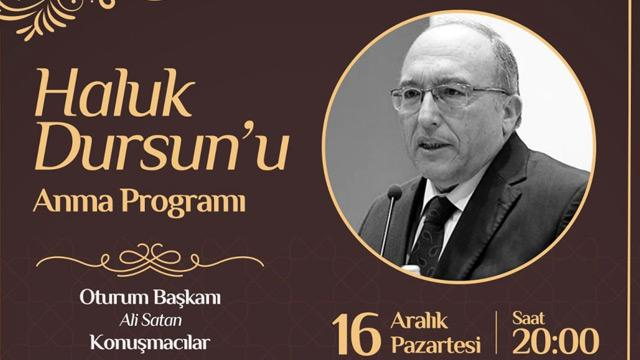 Üsküdar Belediyesi Ahmet Haluk Dursun için anma programı düzenliyor