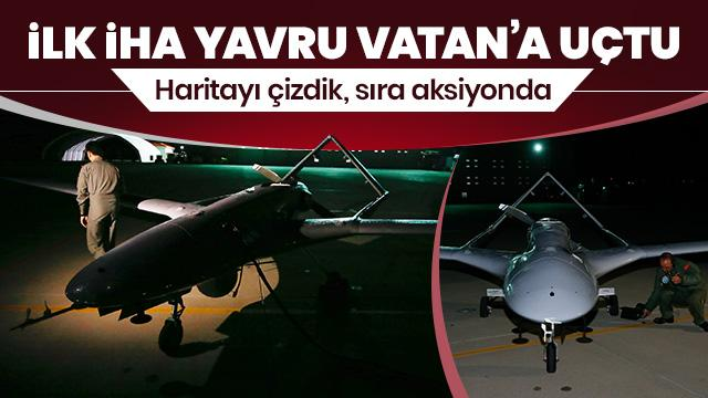 Türkiye'den KKTC'ye ilk İHA KKTC'de Geçitkale Havaalanı'na indi