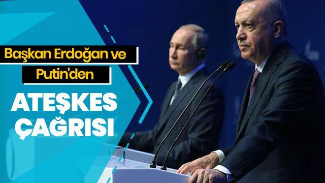Başkan Erdoğan ve Putin'den ABD ile İran'a itidal çağrısı