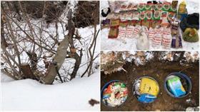 PKK'lı teröristlere ait gıda malzemesi ve silah ele geçirildi!