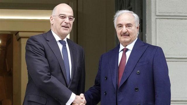 Hafter, Yunanistan Başbakanı Miçotakis ve Dışişleri Bakanı Dendias ile görüştü