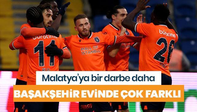 Medipol Başakşehir, Yeni Malatyaspor'u farklı mağlup etti
