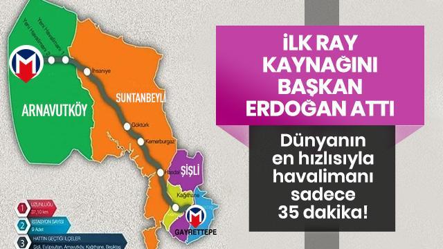 Başkan Erdoğan havalimanı metrosu kaynak töreninde