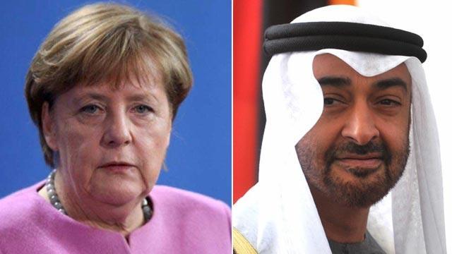 Merkel, BAE Veliaht Prensi Muhammed bin Zayed El Nahyan ile Libya'yı görüştü