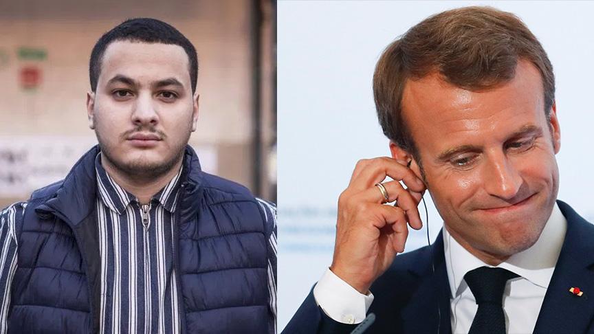 Macron'un bulunduğu yeri sosyal medyada paylaşınca gözaltına alındı