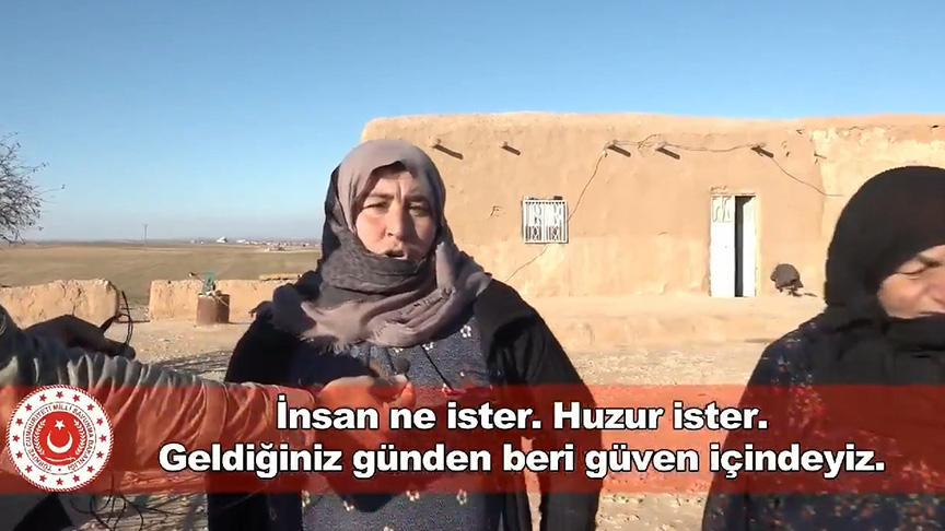 Barış Pınarı bölgesindeki halk konuştu: Türk askeri geldikten sonra her şey çok güzel oldu