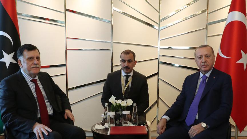 Başkan Erdoğan Fayiz es Sarrac'ı kabul etti