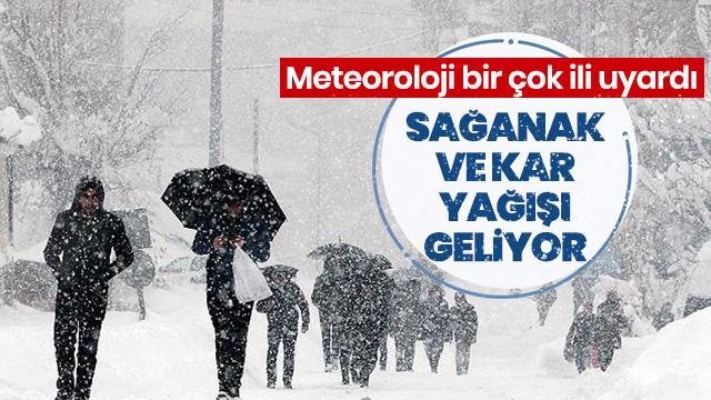 Meteoroloji bir çok ili uyardı: Sağanak ve kar yağışı geliyor