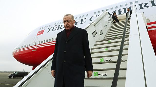 Başkan Erdoğan, Libya Konferansı'na katılmak üzere Almanya'ya ulaştı