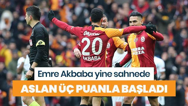 Galatasaray üç puanı kaptı