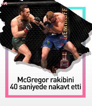 Conor McGregor rakibinin fişini 40 saniyede çekti