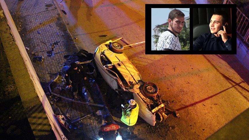 Otomobil köprüden uçup duvara çarptı: 2 genç hayatını kaybetti