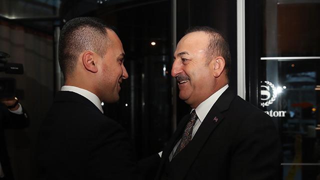 Dışişleri Bakanı Mevlüt Çavuşoğlu, İtalyan mevkidaşı Di Maio ile bir araya geldi