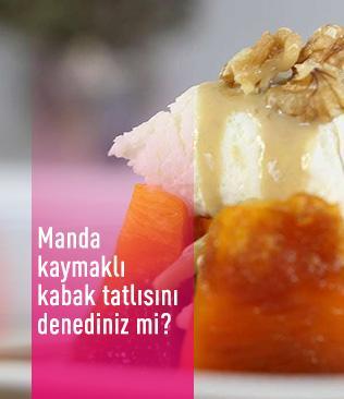 Afyon'un eşsiz lezzeti: Manda kaymaklı kabak tatlısı