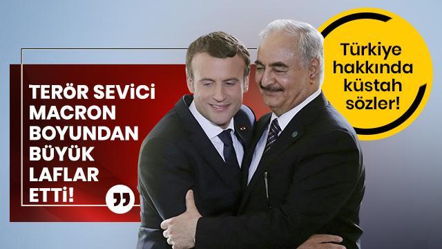 Terör sevici Macron boyundan büyük laf etti!