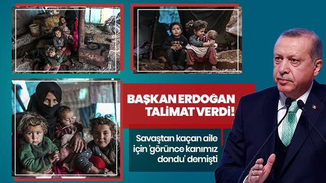 Savaş mağduru ailelere Başkan Erdoğan'dan yardım eli!