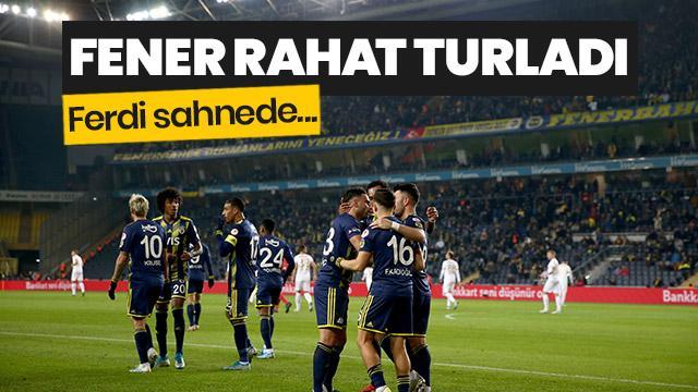 Fenerbahçe, Kayserispor'u 2-0 mağlup ederek kupada çeyrek finale yükseldi