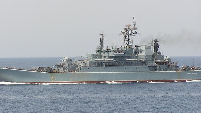 Rusya'ya bağlı savaş gemisi 'Caesar Kunikov' Akdeniz'e doğru yol aldı