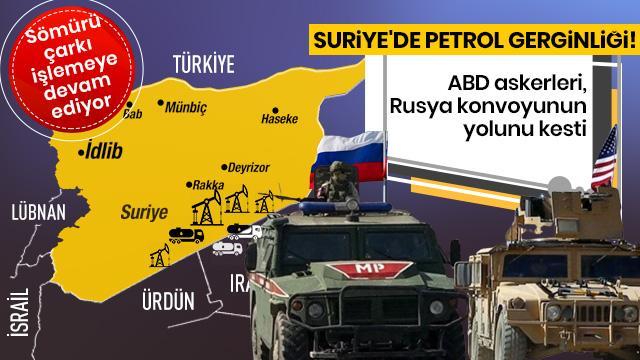 ABD askerleri, petrol sahalarına ulaşmak isteyen Rusya konvoyunun yolunu kesti