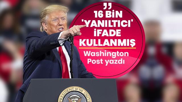 """ABD Başkanı Trump'ın 3 yılda yaklaşık 16 bin """"yanlış ya da yanıltıcı"""" ifade kullandığı iddiası"""