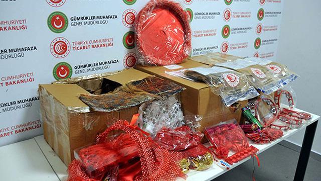 Havalimanında kına malzemesi kolisinde piyasa değeri 300 bin liralık uyuşturucu madde ele geçirildi