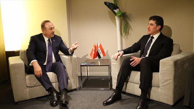 Çavuşoğlu, IKBY Başbakanı Neçirvan Barzani ile görüştü