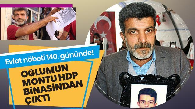 """Evlat nöbeti 140. gününde! """"Oğlumun montu HDP binasından çıktı"""""""