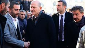 İçişleri Bakanı Soylu Abdülkerim Çevik'in ailesine taziye ziyaretinde bulundu
