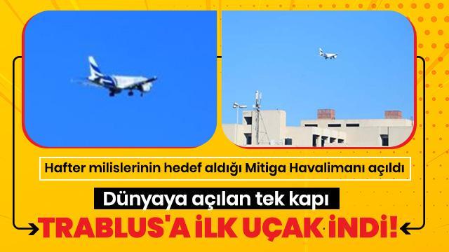 Ve ilk uçak indi! Dünyaya açılan tek kapı