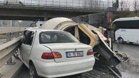 Bağcılar'da korkutan kaza: Çok sayıda ekip bölgede
