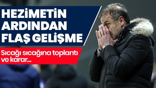 Erzurumspor hezimeti sonrası Beşiktaş yönetimi Vodafone Park'ta flaş bir toplantı yaptı
