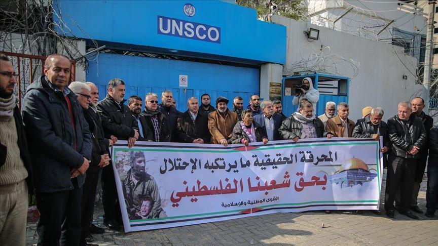 Gazze'de düzenlenen gösteride Holokost Forumu protesto edildi