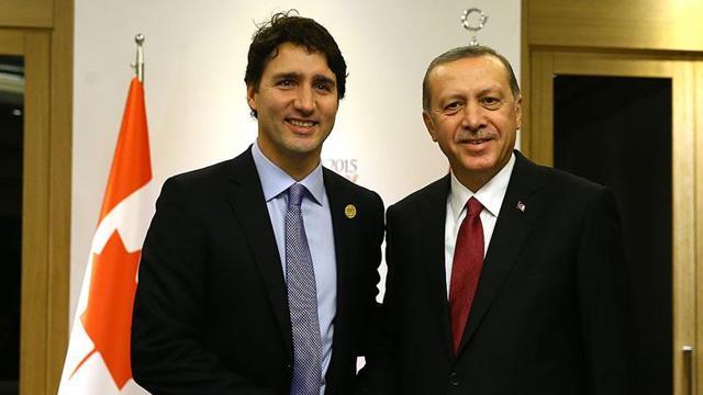 Başkan Erdoğan Kanada Başbakanı Trudeau telefon ile görüştü