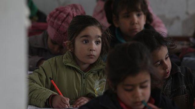 Barış Pınarı bölgesinde eğitim desteği