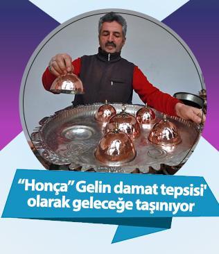 Osmanlı sarayının tabildot kabı 'honça', 'gelin damat tepsisi' olarak geleceğe taşınıyor