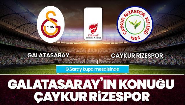 Galatasaray-Çaykur Rizespor CANLI