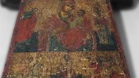 Mersin'de tek tanrı dönemine ait olduğu saptanan Hz. İsa ve Hz. Meryem figürü bulunan tablo ele geçirildi