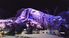 Elazığ Sivrice ilçesindeki deprem sonrası yıkılan binalar görüntülendi