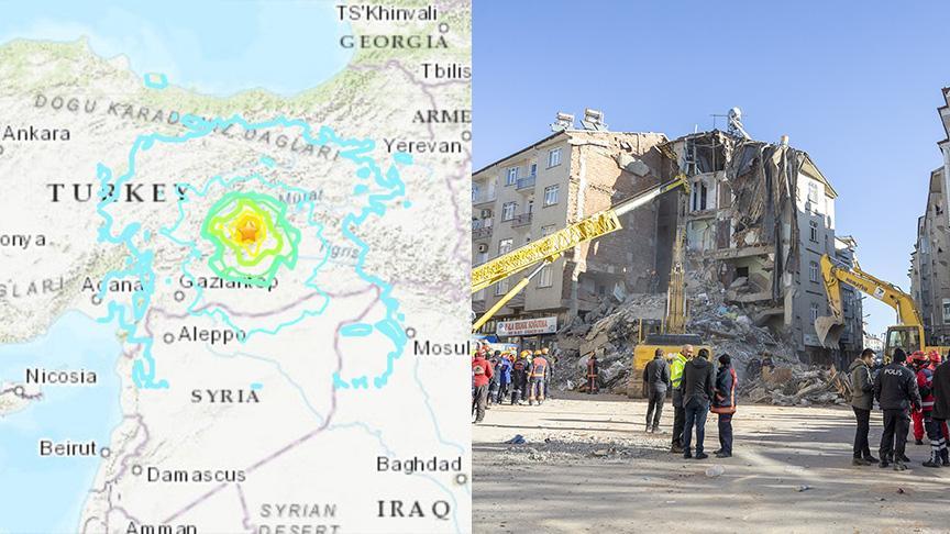 Elazığ'daki deprem sonrası ABD'den korkutan harita!