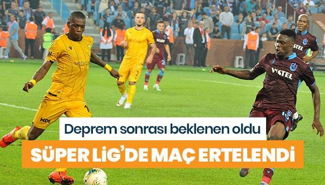 Yeni Malatyaspor - Trabzonspor maçı depren nedeniyle ileri bir tarihe ertelendi